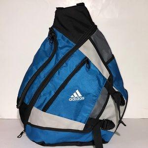 503842bc60b adidas Bags   Yates Blue Sling Bag   Poshmark